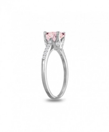 Sterling Silver Simulated Morganite White in Women's Statement Rings