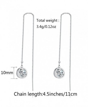Zirconia LicLiz Threader Earrings Sparkling