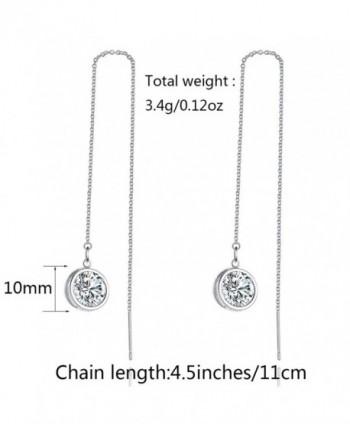 Zirconia LicLiz Threader Earrings Sparkling