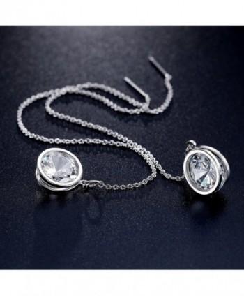 Zirconia LicLiz Threader Earrings Sparkling in Women's Drop & Dangle Earrings