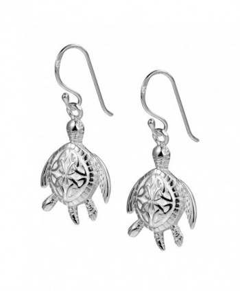 Turtle Triquetra Finish Sterling Earrings