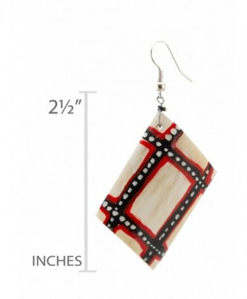 Maisha Beautiful African painted Earrings