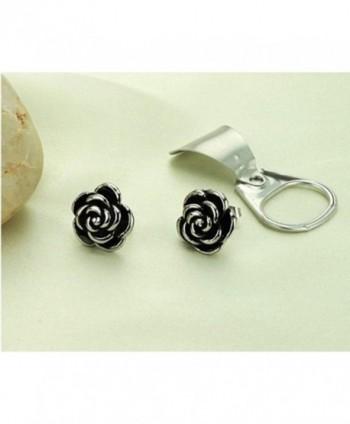 Casoty Jewelry Sterling earrings Stainless in Women's Stud Earrings
