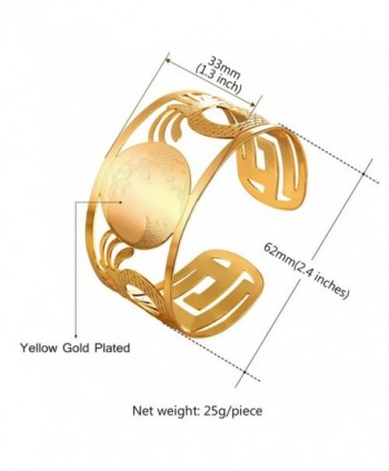 U7 Bangle Fashion Plated Bracelet