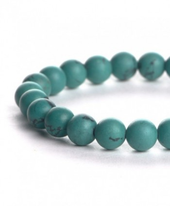 iSTONE Bracelets Gemstones Birthstone Turquoise in Women's Stretch Bracelets