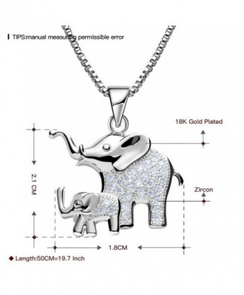 Elephant Pendant Necklace Platinum Jewelry