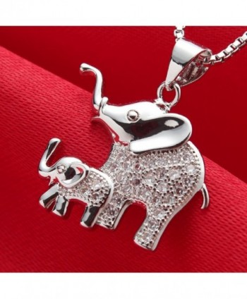Elephant Pendant Necklace Platinum Jewelry in Women's Pendants