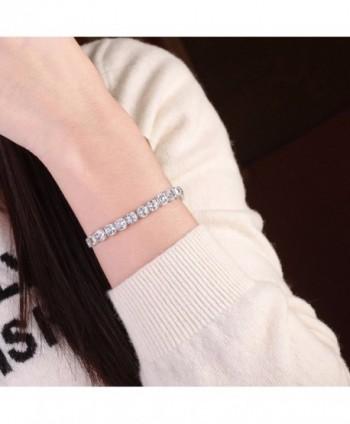 Caperci Silver Zirconia Tennis Bracelet in Women's Tennis Bracelets