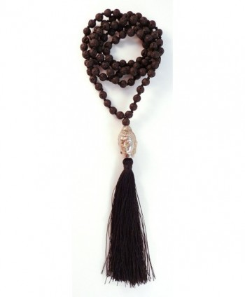 Buddha Head 108 Prayer Bead Mala - C611GN5YCT3