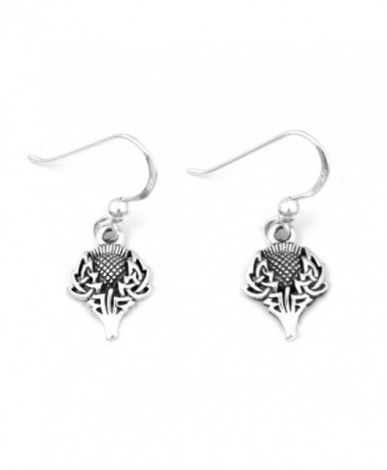 Scottish Spirit of Alba Thistle Celtic Knot Art Sterling Silver Earrings by Courtney Davis - CB1145I1HCF
