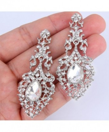 EVER FAITH Hollow out Chandelier Silver Tone in Women's Drop & Dangle Earrings