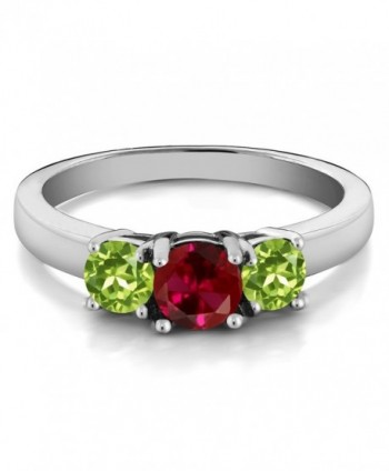 Created Peridot Sterling 3 Stone Available