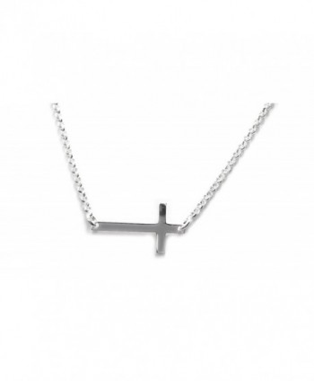 DTLA Sideways Cross Sterling Silver .925 Necklace - CL11NI72GKL