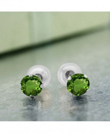 GemStoneKing Fashion Earrings Diopside 4 prong - C31191KNJQ9