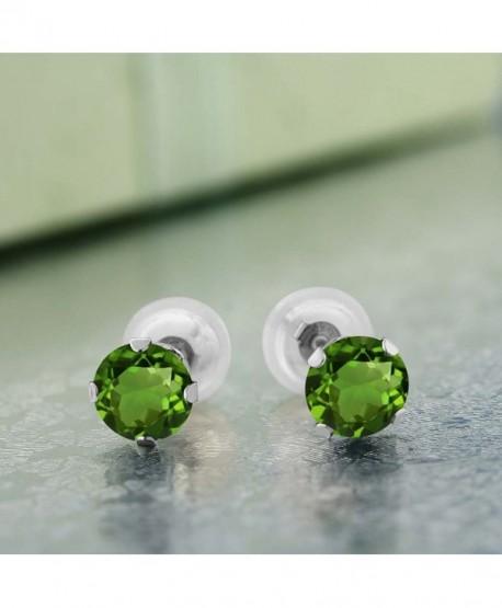 GemStoneKing Fashion Earrings Diopside 4 prong - C31191KNJQ9