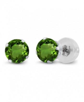 GemStoneKing Fashion Earrings Diopside 4 prong in Women's Stud Earrings