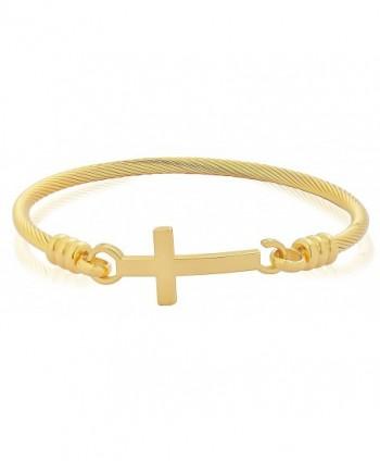 Edforce Stainless Bracelet Christian Diameter - Gold - CA1867M9IUT