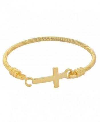 Edforce Stainless Bracelet Christian Diameter in Women's Bangle Bracelets