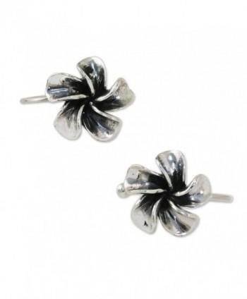 NOVICA Set of 2 Plumeria Flower .925 Sterling Silver Ear Cuffs 'Frangipani Sprial' (pair) - C6182HTK37G