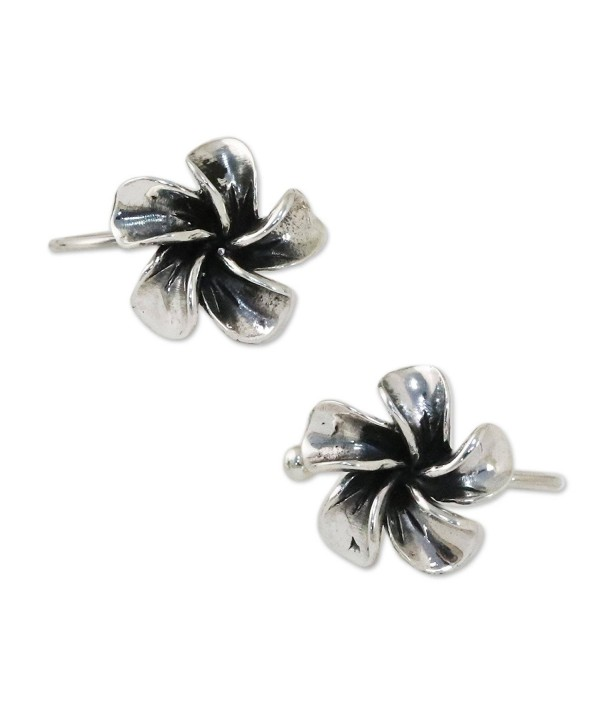 NOVICA Set of 2 Plumeria Flower .925 Sterling Silver Ear Cuffs 'Frangipani Sprial' (pair) - C6182HTK37G