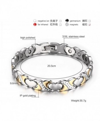 Jewelry Two tone Healthy Bracelet Stainless