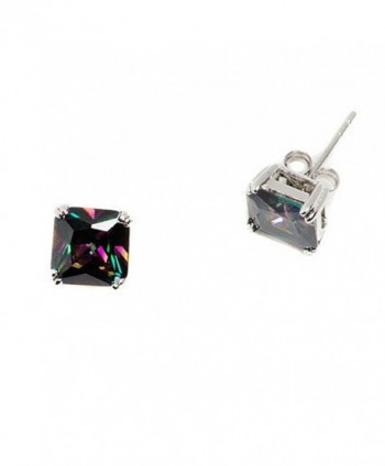 Earrings Princess Rainbow Zirconia Sterling