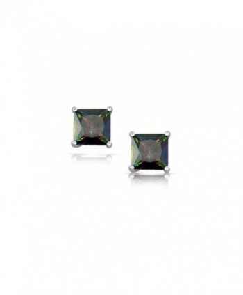 Earrings Princess Rainbow Zirconia Sterling in Women's Stud Earrings
