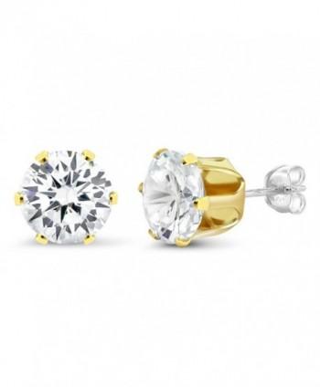 Sterling Silver Yellow Zirconia Earrings
