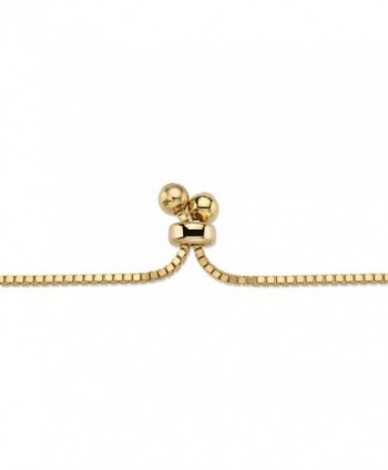Zirconia Gold Plated Adjustable Drawstring Bracelet