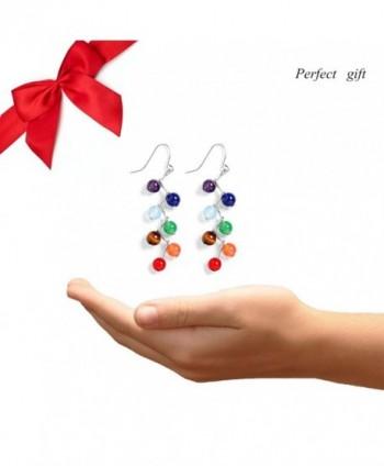 Jauxin Chakra Stanless Healing Earrings in Women's Drop & Dangle Earrings