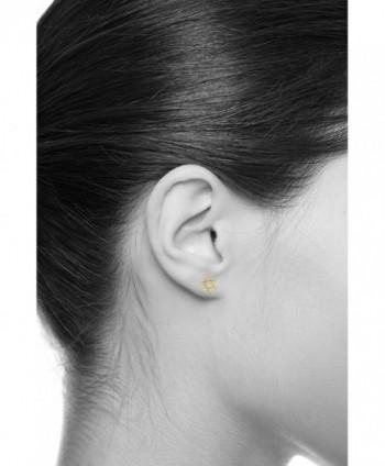 Yellow Gold Star David Earrings in Women's Stud Earrings