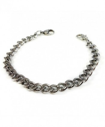 MyIDDr - Interchangeable Medical Bracelet Strand- Stainless Steel Curb Chain - C512NT4SVHO