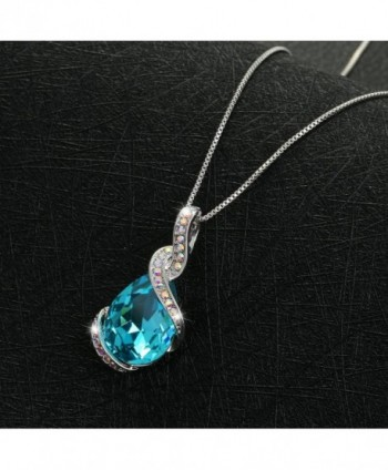 Drop Tear Swarovski Crystal Pendant Necklace in Women's Pendants