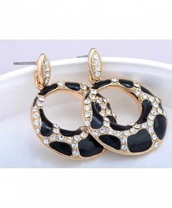 Alilang Womens Rhinestones Spotted Earrings