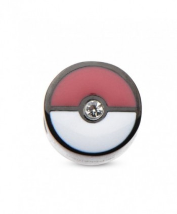 Pokemon Pokeball Black PVD Plated Bead Stainless Steel Charm - CL12H3FV83J