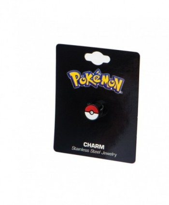 Pokemon Pokeball Black Plated Stainless in Women's Stud Earrings