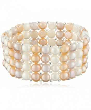 Bella Pearl Triple Row Light Multi-Stretch Bracelet - CJ128DPLZ9F