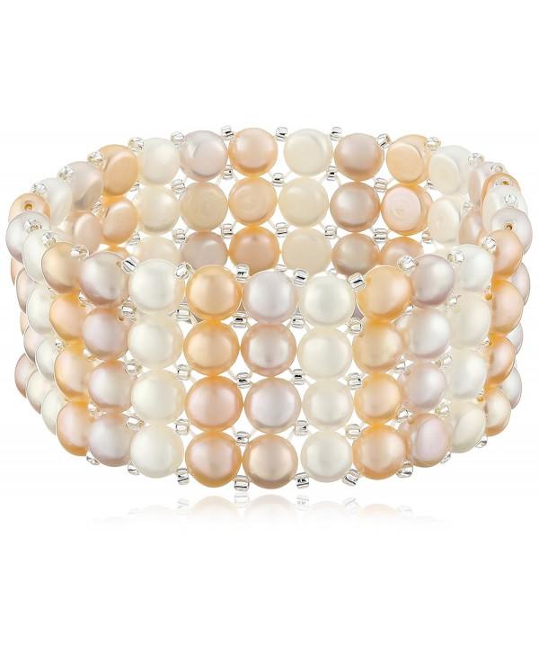 Bella Pearl Triple Row Light Multi-Stretch Bracelet - CJ128DPLZ9F