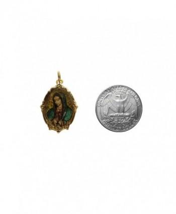 Guadalupe Gold tone Frame shapped Catholic Handmade