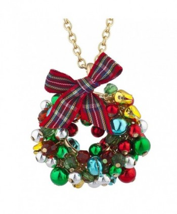 Lux Accessories Christmas Necklace Earring in Women's Jewelry Sets