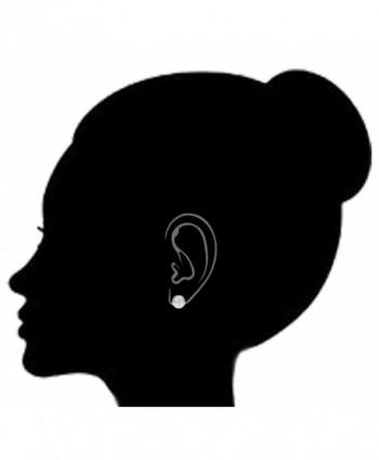 Sterling Silver Shiny Round Earrings in Women's Clip-Ons Earrings