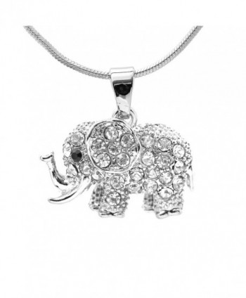 chelseachicNYC Crystal Raised Elephant Necklace