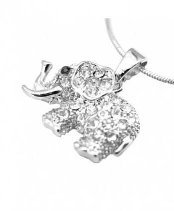 chelseachicNYC Crystal Raised Elephant Necklace in Women's Pendants