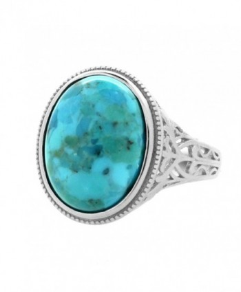 Sterling Genuine Turquoise Cocktail Vintage in Women's Statement Rings