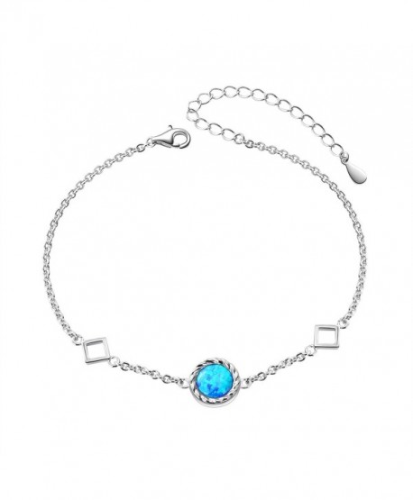 You Are the Only One in My Heart Sterling Silver Created Opal Necklace and Bracelet for Women - CS186TGIA65