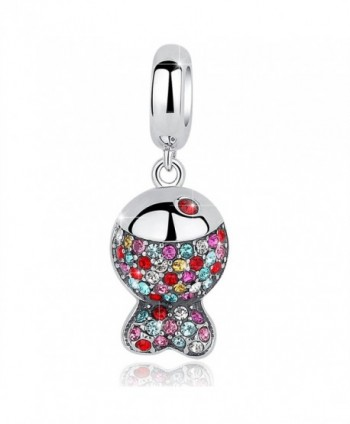 BAMOER Sterling Pendant Sparkling Zirconia - Colorful Fish - CY187R0ST76