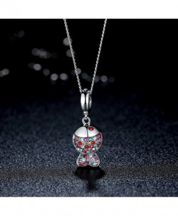 BAMOER Sterling Pendant Sparkling Zirconia in Women's Pendants