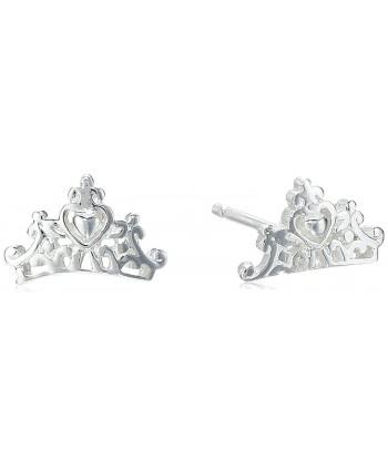 Disney Princess Crown Post Stud Earrings - Silver - CZ11VS89QRD