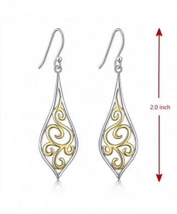 Sterling Filigree Earrings Sensitive Renaissance in Women's Drop & Dangle Earrings