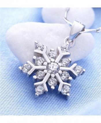 Coolsome Snowflake Necklace Sparking Zirconia in Women's Pendants